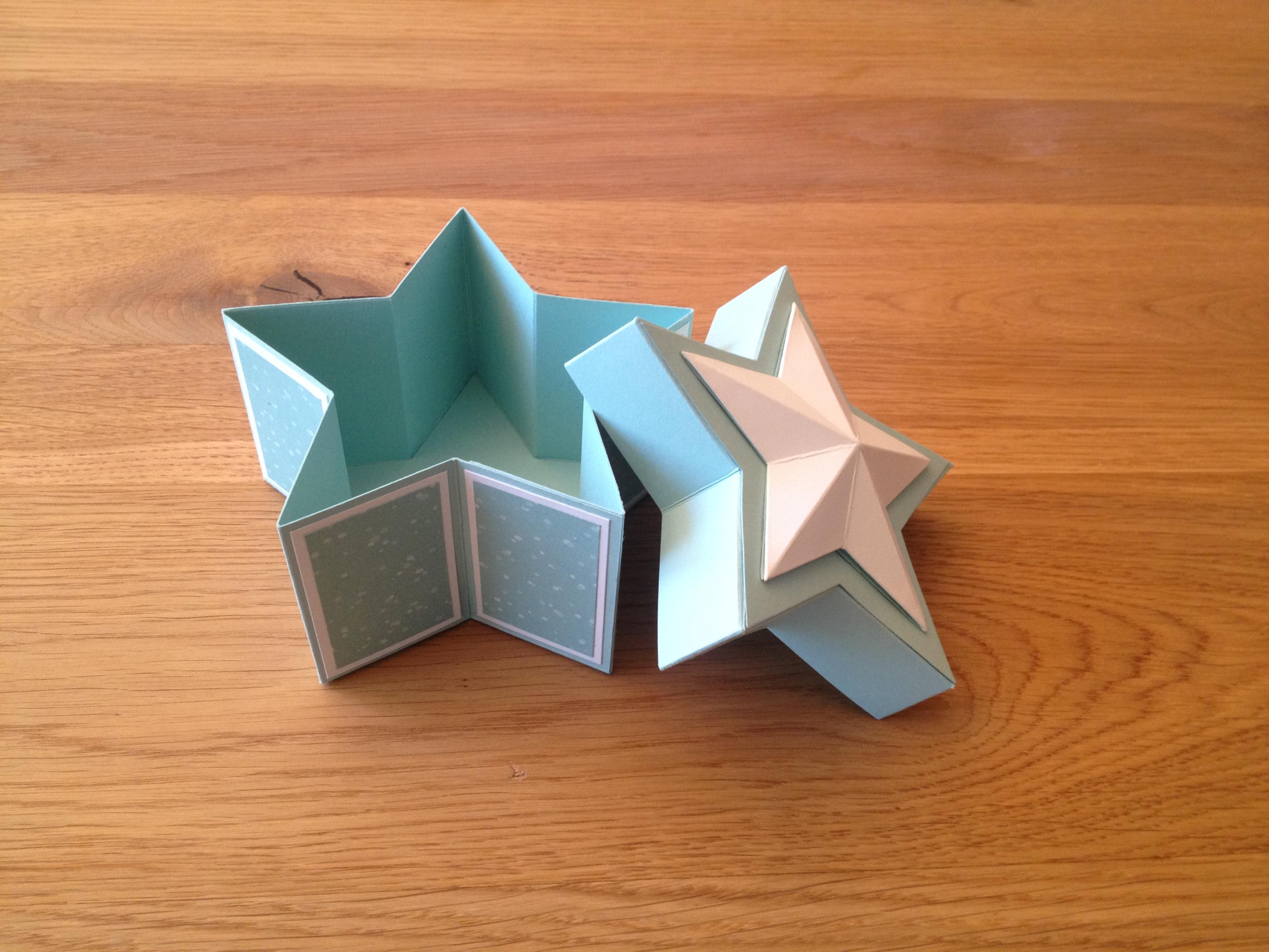 Geöffnete Sternschachtel Handmade By Katharina Sieber